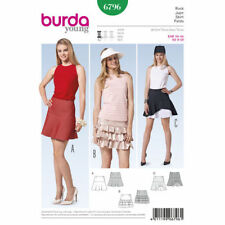 Burda Young 6796 Misses Skirts with Flounce Size 8-18