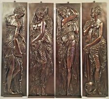 4 Bronze F. Barbedienne Relief Plaques After Jean Goujon Fountaine Des Innocents