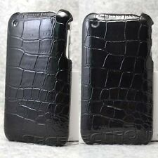 New Black Alligator Skin Design Hard case back cover for iphone 3g 3gs