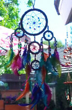 Native American Design BEADED DREAMCATCHER, Vibrant Chakra FEATHERS