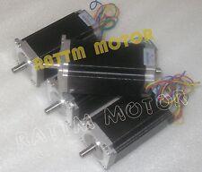 【US Stock】4Pcs NEMA23 Stepper motor (Dual shaft)112mm/425 oz-in/3A stepper motor