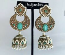 Indian  Pakistani Bollywood Fashion Chand Bali/Jhumka/Jhumki Earrings Jewelry