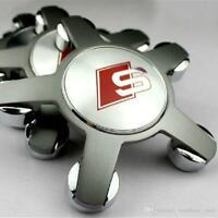 Silber SATZ SLINE 135mm Alufelgen Felgendeckel Nabenkappen Wheel AUDI 4F0601165N
