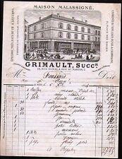 1884 La Mans France Maison Malassigne Fabrique De Chocolat Vins Pins Letter Head
