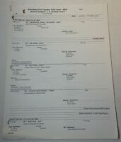 DAWSON'S CREEK set used paperwork ~ SHOOTING SCHEDULE Series 6 Episode 9