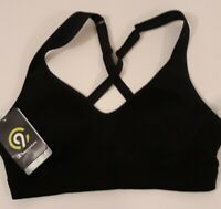 Black Sports Bra Women's Lightweight Shape Size Small Champion C9 Medium Support