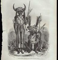 INDIA GUERRIERI KHONDS XILOGRAFIA DA LE MAGASIN PITTORESQUE 1868