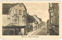 Ansichtskarte Bünde/Westfalen - Blick in die Eschstrasse/Schuhwarenhaus - 1914