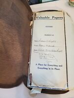 Vintage Valuable Papers Folder/envelopes Washington D.C Acacia Life Insurance CO