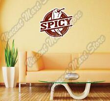 """Spicy Chili Pepper Restaurant Grunge Stamp  Wall Sticker Room Interior Decor 22"""""""