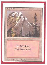 Mountain, Big Miscut NM English x 1 Revised MTG *Pimp Land* Low Int Ship
