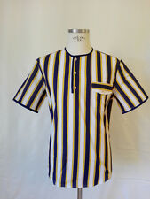 CAPIRARI stile Kiton Brioni henley collar man shirt made in Italy size L