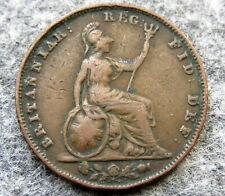 GREAT BRITAIN QUEEN VICTORIA 1848 FARTHING, COPPER