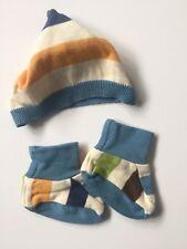 Boy Newborn Hat Beanie And Bootie Sock Set