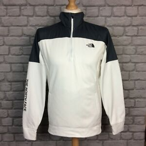 THE NORTH FACE MENS TRAIN N LOGO WHITE GREY 1/2 ZIP TOP JACKET RRP £85