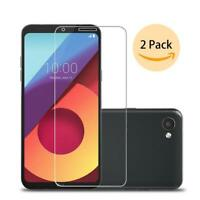 New Clear Pack Of 2 Genuine Tempered Glass Screen LCD Protector For LG Q6 M700N