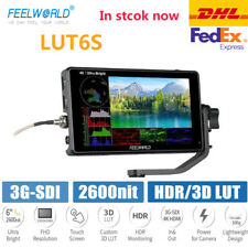 FEELWORLD LUT6S 6 Inch 2600nits HDR/3D LUT 3G-SDI Field Camera Monitor for DSLR