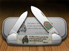 CASE XX Christmas Smooth Natural Bone Canoe Stainless Pocket Knives Knife