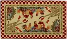 """Anti-Bacterial Rubber Back Home and KITCHEN RUGS Non-Skid/Slip 18""""x31""""   Rooster"""