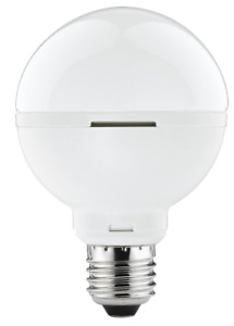 LED Lampe 9 Watt E27 Globelampe G80 Paulmann Warmweiß LED Kugel Globeform