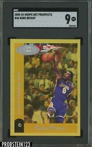 2000-01 NBA Hoops Hot Prospects #46 Kobe Bryant Lakers HOF SGC 9 MINT