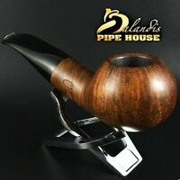BALANDIS * BISON BARBAN * HANDMADE & WAXED SMOOTH BRIAR wood smoking pipe