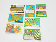 Kelloggs Spot O Gold Lot Of Scratch Off Game Cards Billiards Darts Tic Tac Toe