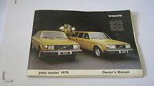 VOLVO 244-245  ORIGINAL 1979 OWNERS HANDBOOK AGE WORN BUT STILL GOOD CONDITION