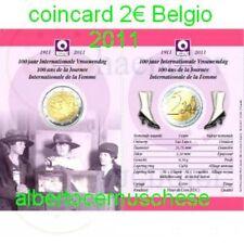 Coin card 2 euro 2011 Belgio Belgique Belgium België  Belgien Van Diest Popelin