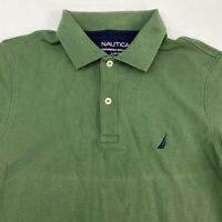 Nautica Performance Deck Polo Shirt Men's Medium Short Sleeve Green Slim Fit
