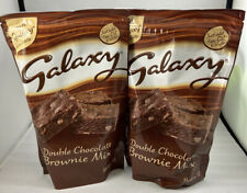 2x Galaxy Double Chocolate Brownie Mix 360g Great For Baking (Makes 12 x 2)