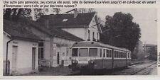 1984  --  AUTORAIL EN GARE DE GENEVE EAUX VIVES    3F494