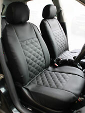 VW TRANSPORTER T4 T5 T6 - Pair of Luxury KNIGHTSBRIDGE LEATHER LOOK  Seat Covers
