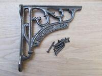 Cast Iron Decorative fancy Shelf Support Book Sink Toilet Cistern Bracket