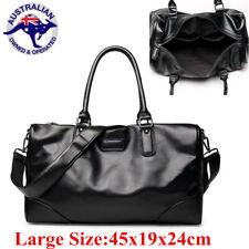 Men Women PU Leather Handbag Gym Luggage Travel Shoulder Bag Duffle Sports Tote
