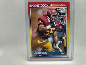 1990 Score #302 Junior Seau NFL American Football Card RC Rookie