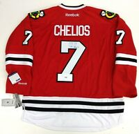 CHRIS CHELIOS SIGNED CHICAGO BLACKHAWKS RBK JERSEY PSA/DNA T37988