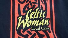 2 Sided CELTIC WOMAN Local STAGE CREW T-Shirt Concert Large mens ladies IRISH
