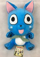 """Fairy Tail Happy 12"""" Plush Great Eastern Blue Funimation Stuffed Animal Toy NWT"""
