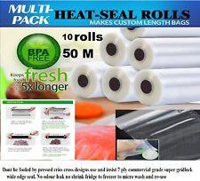 10x28CM 50 Meters Vacuum Food Sealer Rolls Food Saver Bags Storage Re Use