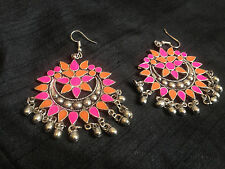 Vintage Afghan Kuchi Earrings Ethnic Trib Kuchi Belly Dance Chain Gypsy Earrings