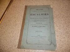 1869.Traité construction des escaliers.Atlas.Aubineau dit Poitevin-la-Fidélité