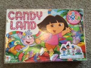 vintage 2005 Candy Land  Dora the Explorer Edition Board Game COMPLETE Very nice