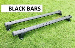 2x BLACK New Aerodynamic Roof Rack Cross Bar for Suzuki Sx4 hatch 2008 - 2013