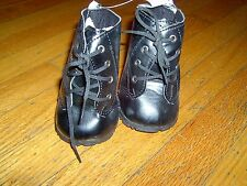 New - Bear Factory -Black Work Boots - For Teddy Bears
