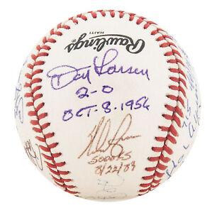 Baseball Great Moments Signed Baseball Hank Aaron Nolan Ryan Don Larsen Beckett