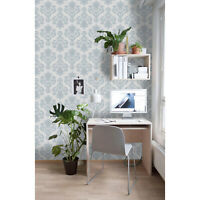 Vintage Removable wallpaper blue and gray wall mural traditional