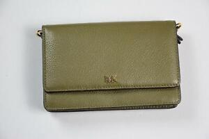 Michael Kors MK Women's Leather Olive Cutch Wallet Shoulder BAG Purse New DBIN6