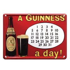 Guinness Metal Sign-Calendar
