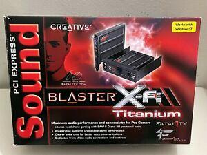 Creative Sound Blaster X-Fi Titanium Fatal1ty Champion Series Audio Card SB0886.